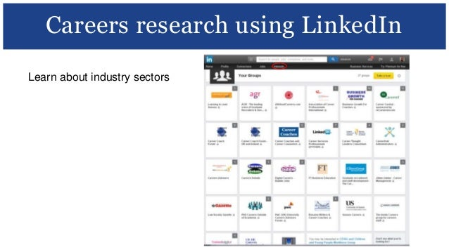 Learn About Industry Sectors Careers Research Using LinkedIn; 28. Social  Media ...