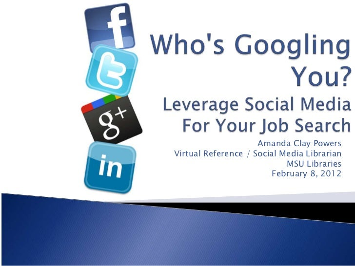 Amanda Clay PowersVirtual Reference / Social Media Librarian                            MSU Libraries                     ...