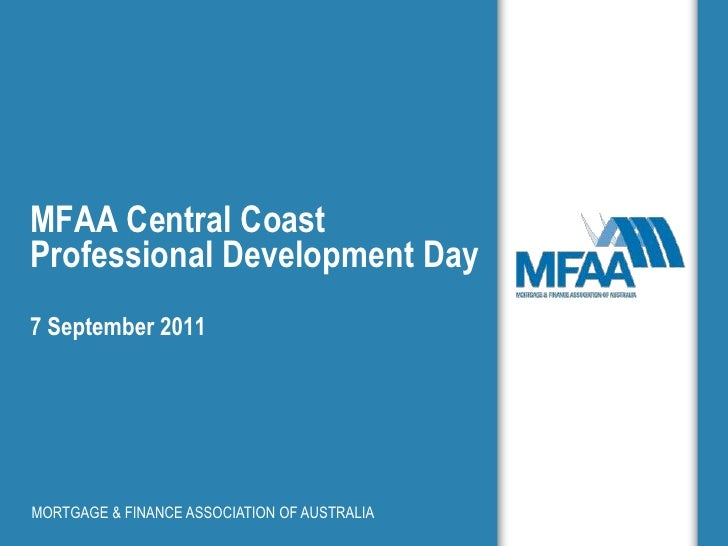 MFAA Central Coast Professional Development Day7 September 2011<br />