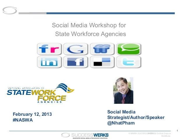Social Media Workshop for                     State Workforce Agencies                                      Social MediaFe...