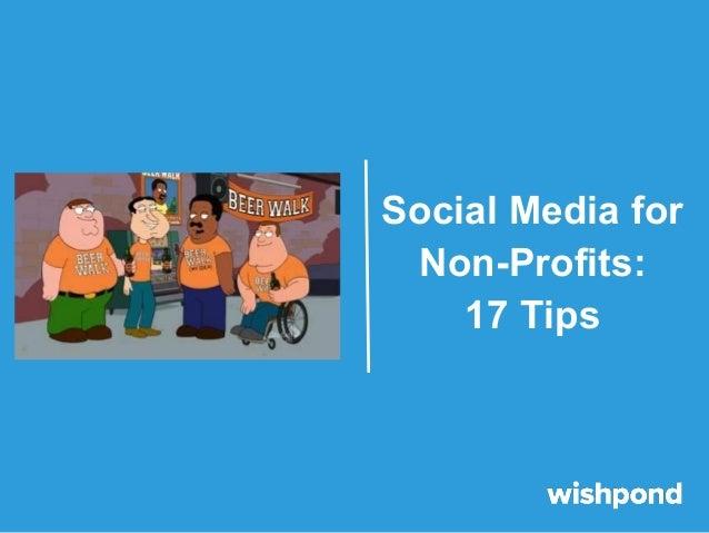 Social Media for Non-Profits: 17 Tips