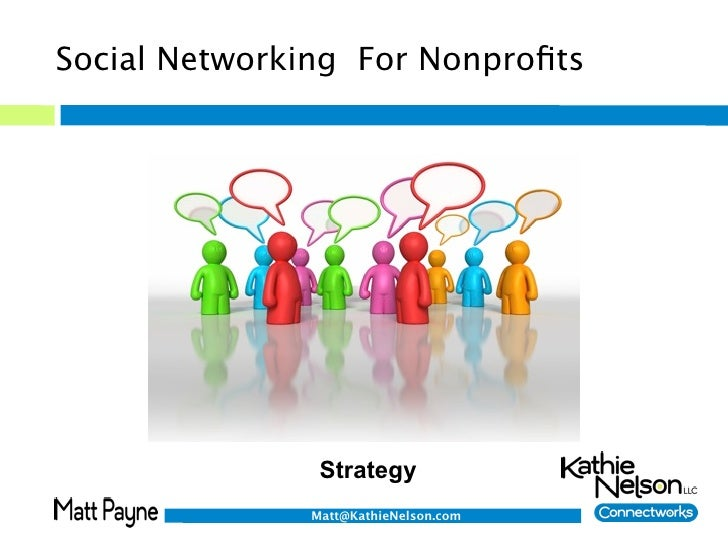 Social Networking For Nonprofits                    Strategy               Matt@KathieNelson.com