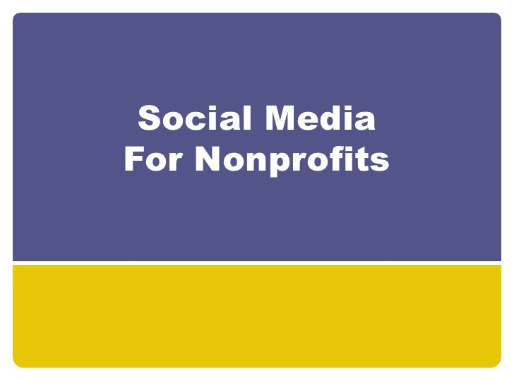 Social Media For Nonprofits<br />