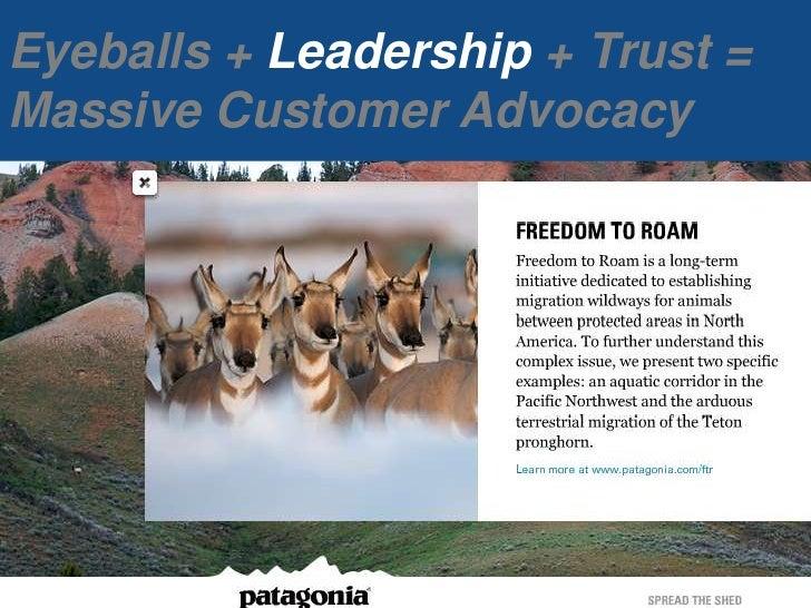 Eyeballs+ Leadership + Trust = Massive Customer Advocacy<br />