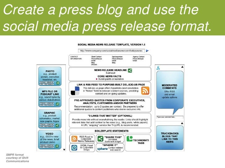 Create a press blog and use the social media press release format.<br />SMPR format courtesy of Shift Communications<br />