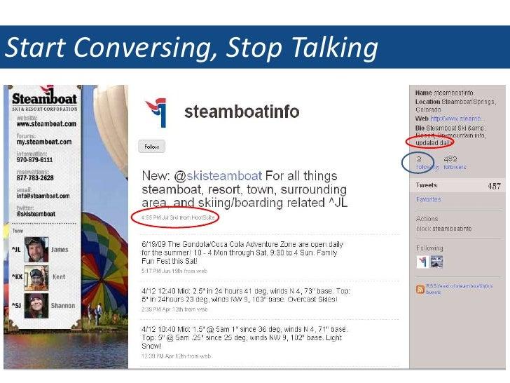 Start Conversing, Stop Talking<br />