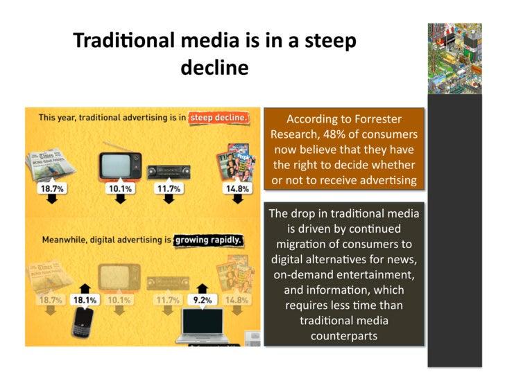 Tradi3onal  media  is  in  a  steep                 decline                                           Accord...