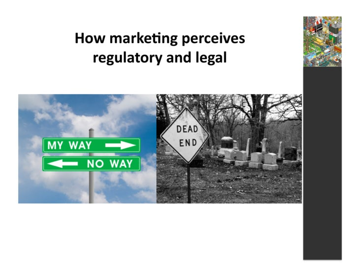 How  marke3ng  perceives       regulatory  and  legal