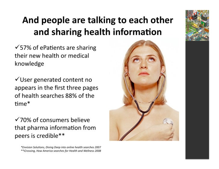 And  people  are  talking  to  each  other         and  sharing  health  informa3on   57%  of  ...
