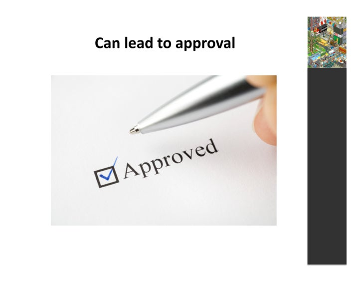 Can  lead  to  approval