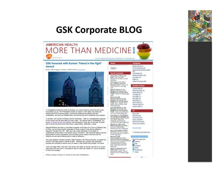 GSK  Corporate  BLOG