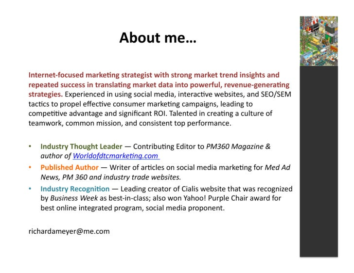 About  me…    Internet-‐focused  marke3ng  strategist  with  strong  market  trend  insights  and  ...