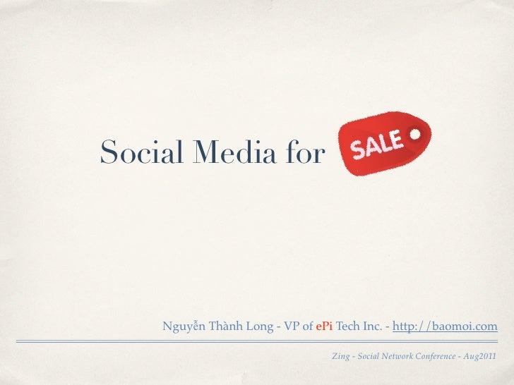 Social Media for    Nguyễn Thành Long - VP of ePi Tech Inc. - http://baomoi.com                                 Zing - Soc...