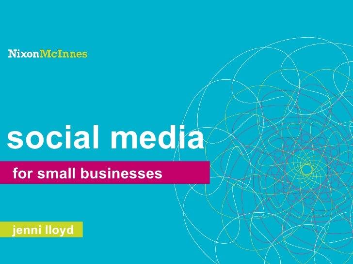 social media for small businesses   jenni lloyd