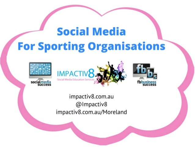 Social media for sporting organisations - City of Moreland