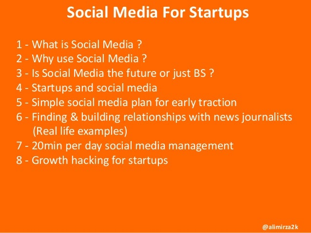 Social Media and Growth Hacking for Startups