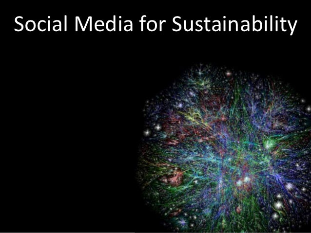 Social Media for Sustainability