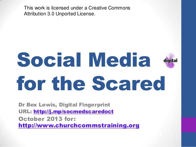 Social Media for the Scared Dr Bex Lewis, Digital Fingerprint URL: http://j.mp/socmedscaredoct October 2013 for: http://ww...