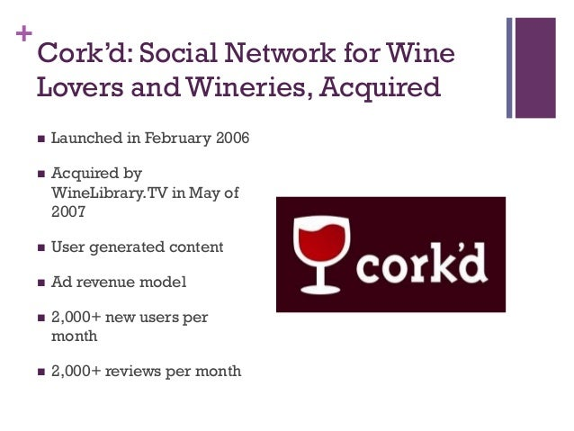 cork d building a social network for wine lovers A place for ucl technology entrepreneurship msc students to discuss thoughts and ideas on class case studies.