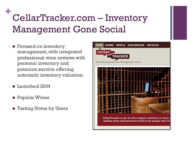 $39/year; 31. + CellarTracker.com ...  sc 1 st  SlideShare & Social Media Marketing for the Wine Industry - Silicon Valley Businesu2026