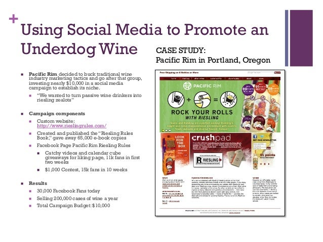 facebook marketing case study pacific rim riesling wine
