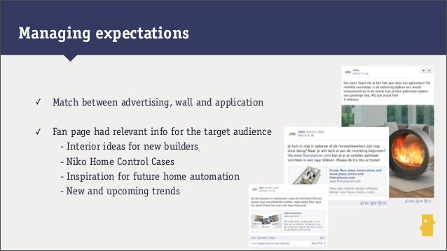 ✓ Match between advertising, wall and application✓ Fan page had relevant info for the target audience- Interior ideas for ...