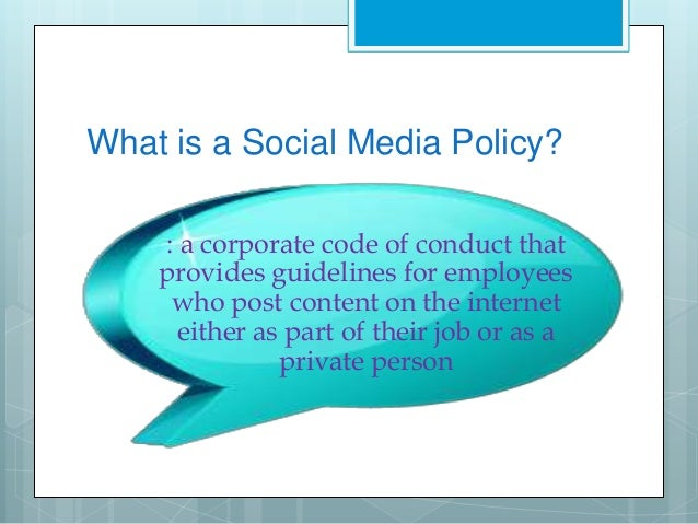 Social Media Policy For Your Small Business