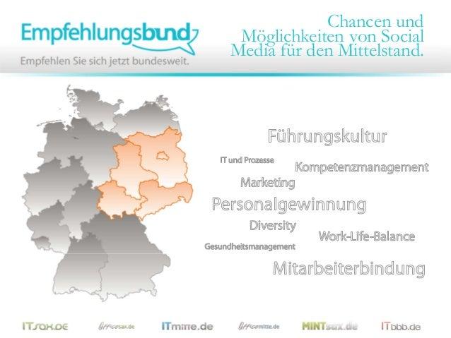 Chancen und Möglichkeiten von SocialMedia für den Mittelstand.