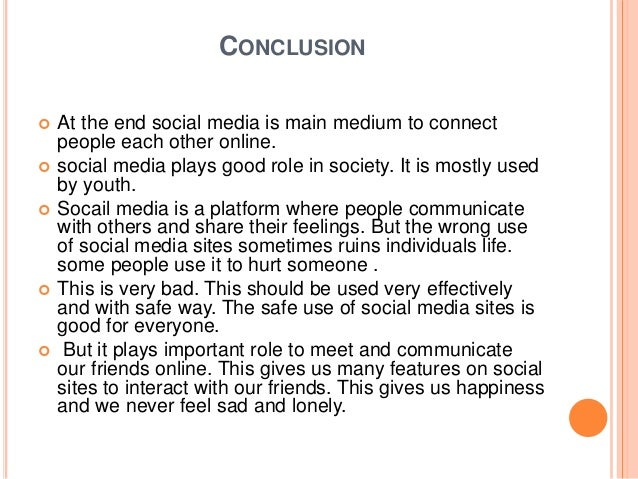 conclusion of role of media
