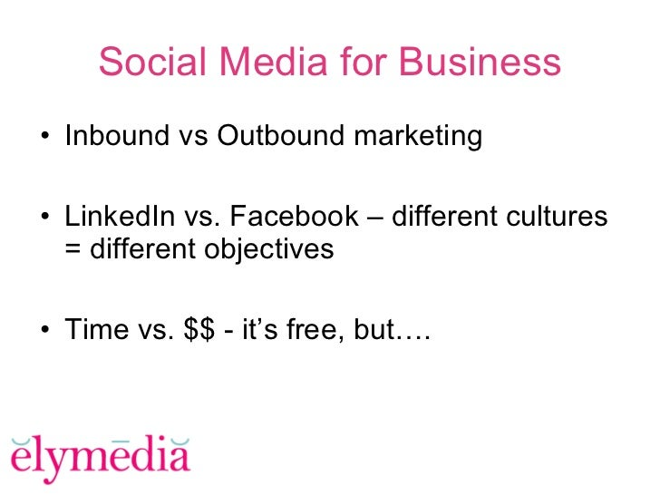 #4 IMU: Successful Business Uses for Facebook and LinkedIn (GF202) Slide 3