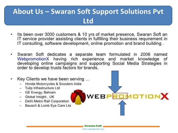 <ul><li>Its been over 3000 customers & 10 yrs of market presence, Swaran Soft an IT service provider assisting clients in ...