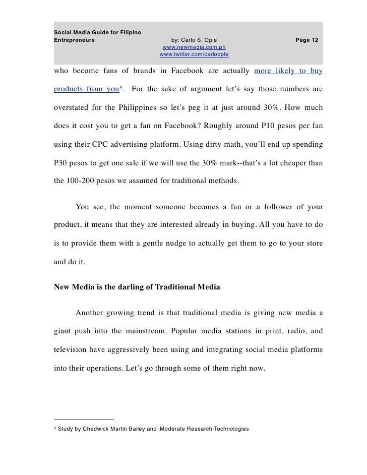 Social Media Guide For Filipino Entreps