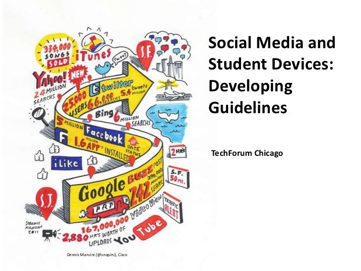 Social Media and Student Devices:  Developing Guidelines<br />TechForum Chicago<br />Dennis Mancini (@snapini), Cisco<br />