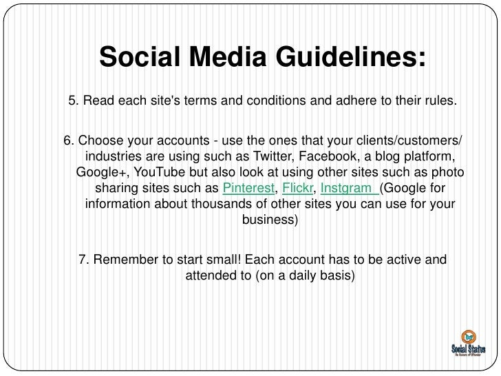 social media case guidelines Policies that apply to social media  read the guidelines for secure use of social media by federal departments and agencies from the cio council.