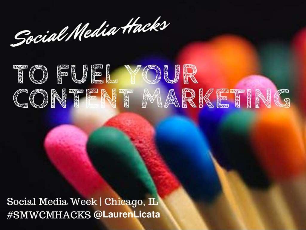 Social Media Hacks To Fuel Your Content Marketing