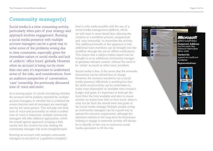 The Omobono Social Media Handbook                                                                           Page 13 of 51...