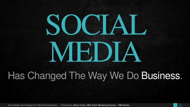 social media changing the way we do business essay How social media has changed how we communicate  another big change that has occurred is that there is now  social media has also changed the way that we .