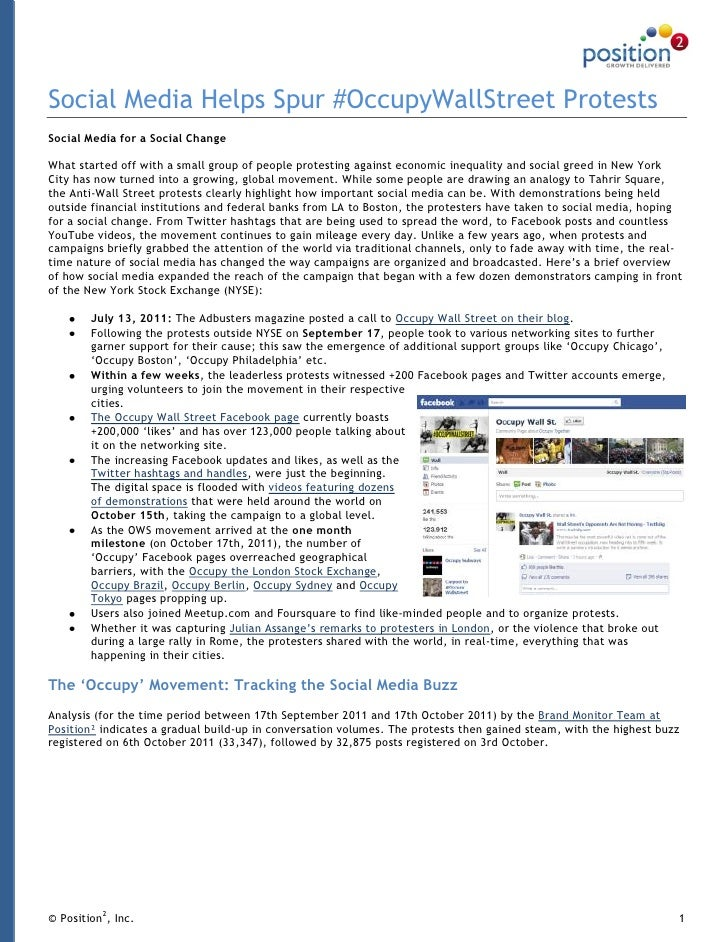 Social Media Helps Spur #OccupyWallStreet ProtestsSocial Media for a Social ChangeWhat started off with a small group of p...