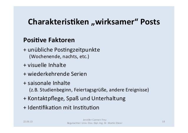 """Charakteris5ken """"wirksamer"""" Posts Posi5ve Faktoren + unübliche Pos9ngzeitpunkte (Wochenende, nachts, e..."""