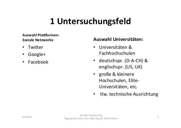 1 Untersuchungsfeld Auswahl PlaCormen: Soziale Netzwerke • Twi@er • Google+ • Facebook Auswahl Univ...