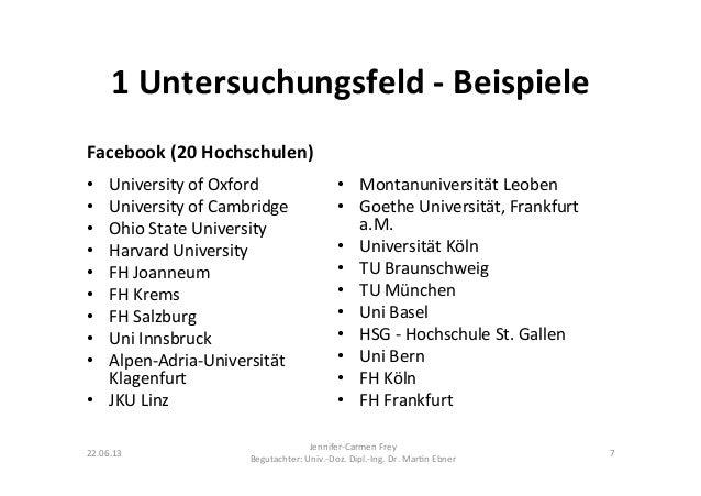 1 Untersuchungsfeld -‐ Beispiele 22.06.13 Jennifer-‐Carmen Frey   Begutachter: Univ.-‐Doz. Dipl.-...