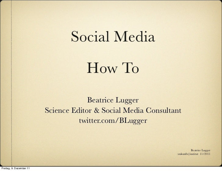 Social Media                                      How To                                       Beatrice Lugger            ...