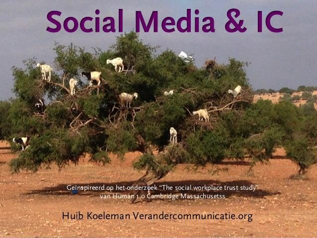 """Geïnspireerd op het onderzoek """"The social workplace trust study"""" van Human 1.0 Cambridge Massachusetss  Huib Koeleman Vera..."""