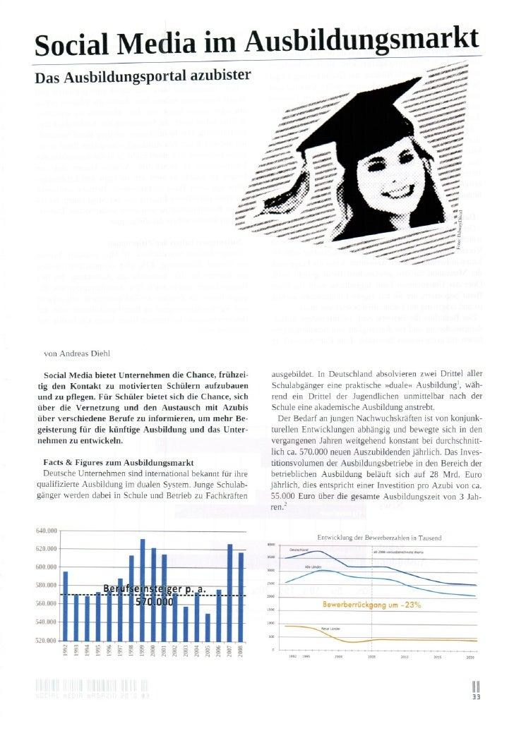 Social Media im Ausbildungsmarkt