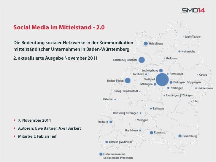 Social Media im Mittelstand - 2.0Die Bedeutung sozialer Netzwerke in der Kommunikationmittelständischer Unternehmen in Bad...