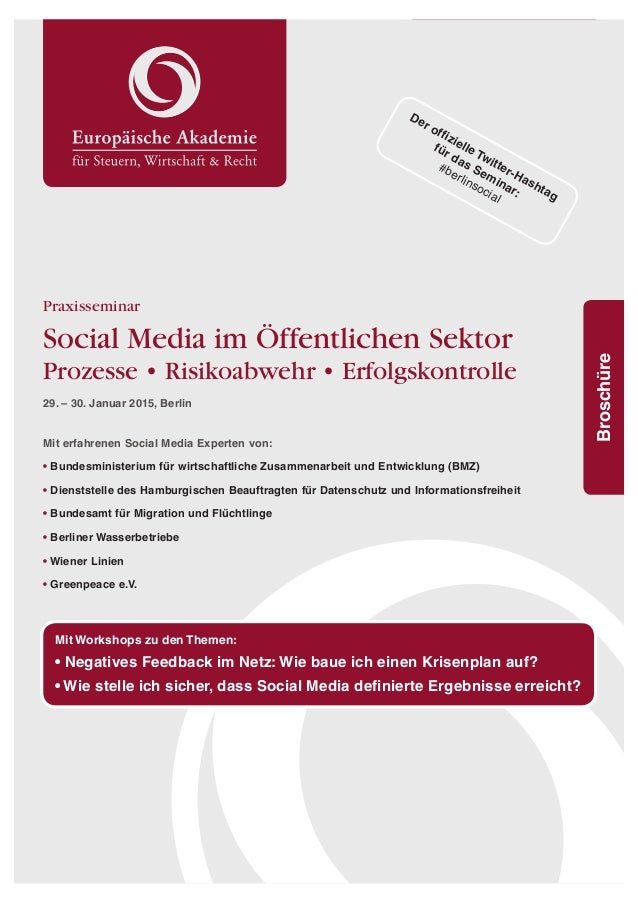 1  r  GTQHƂKGNNG6YKVVGT*CUJVCI  für das Seminar:  #berlinsocial  Broschüre Praxisseminar  Social Media im Öffentlichen Sek...