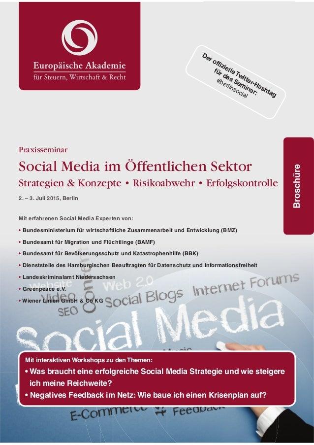 1 #berlinsocial Praxisseminar Social Media im Öffentlichen Sektor