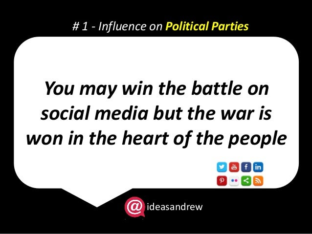 the influence of the media politics essay Free essay: the influence of the media on politics freedom of the press is guaranteed only to those who own one this quote by aj liebling.