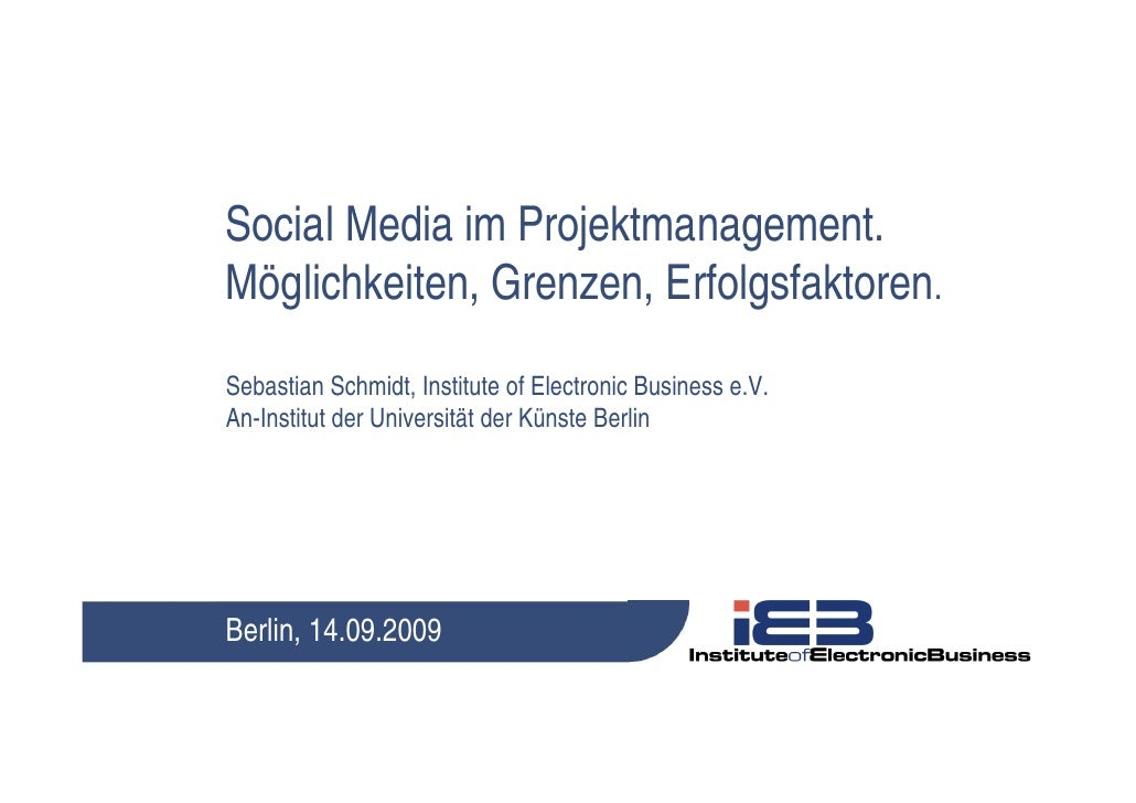Social Media im Projektmanagement