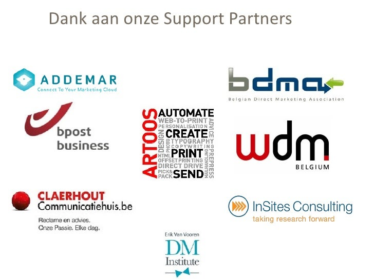 Dank aan onze Support Partners